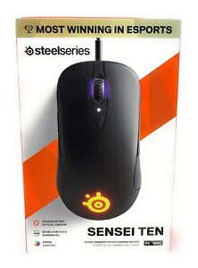 SteelSeries - Sensei Ten Wired Optical RGB Gaming Mouse - Black NEW IN BOX