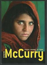 Steve McCurry - Invito a mostra - cartolina del 2012