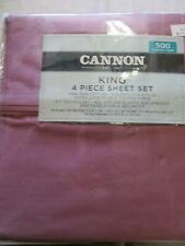 New Purple Cannon 4 Piece King Sheet Set 500 Thread Count