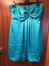 Ladies Jade Green Dress Bubble Hem Size 18