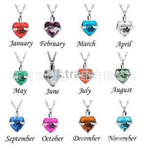 Always In My Heart Pendant Ash Urn Locket Necklace Family Relative Love Keepsake