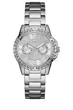 GUESS Women's Sassy 36mm Steel Bracelet & Case Quartz Analog Watch W0705L1
