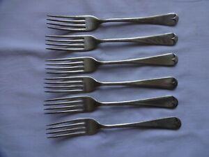 Vintage EPNS Cambridge Plate Dinner Forks x 6  Sheffield 19 cm