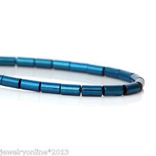 1Strang Naturell Hämatit Perlen Zylinder Blau Loch: 0.5mm, 40.0cm 98 Stk.
