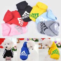 Pet Dog Adidog Hoodies Female/MaleOutfits Apparel Small Dog Clothes Warm USA NEW