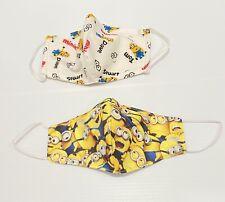 2PC Face Mask Fabric - Minion Mask