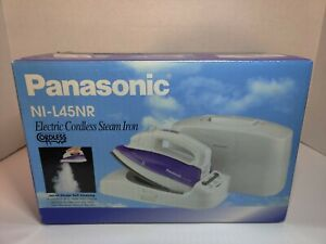 Panasonic NI-L45NR Cordless Steam/Dry Iron Stainless Steel Soleplate BRAND NEW