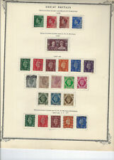 Great Britain-Gv1-Qe2-On Pages-Collection-Mint-Use d-F-Vf-