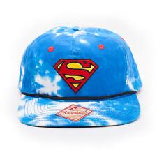 OFFICIA DC COMICS SUPERMAN SYMBOL SKY AND CLOUDS ALL OVER SNAPBACK CAP HAT (NEW)