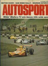 AUTOSPORT OTTOBRE 18th 1973 * Rally San Remo & Mallory F 3 *