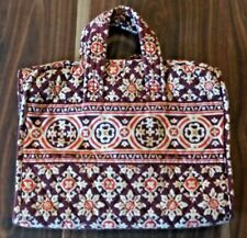 Vera Bradley Retired Burgundy Medallion Pattern Toiletry/Cosmetic Organizer