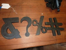 "c1950's movie MARQUEE PLASTIC SYMBOLS back-lit DARK color 6.25"" high - FOUR pcs"