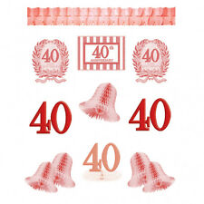 12 Piece Ruby Red 40th Anniversary Party Decorating Kit Pack