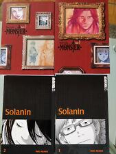 Manga Sammlung Deutsch Monster 1-2 & Solanin 1-2