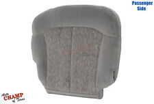 99-02 Chevy 1500HD 2500HD 3500 LS LT-Passenger Side Bottom Cloth Seat Cover Gray