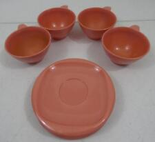 VINTAGE BOONTON WARE PINK MELMAC 8 PC SET CUPS 1206-8 AND SAUCERS 1202-6