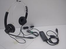 Plantronics SP12 Noise Cancel Binaural Computer Headset + DSP 90 USB adapter
