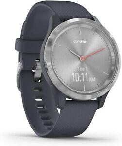 Garmin Vívomove 3S 39mm Case with Silicone Band GPS Running Watch - Granite Blue