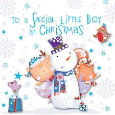 Special Little Boy At Chirstmas Greeting Card Embellished Talking Pictures Cards