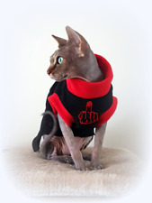 adult S Middle Finger, top for a Sphynx cat clothes, pet jumper Hotsphynx