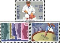 Schweiz 1351-1353 (kompl.Ausg.) gestempelt 1987 Jahresereignisse