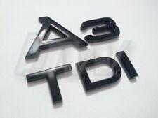 Noir A3 & TDI BADGE SET Vernis Lettrage Audi S Line Black Edition S3