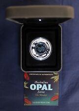 "2012 Australie 1 oz (environ 28.35 g) Silver Proof ""Opal Series-Wombat"" en cas Avec COA (V9/5)"