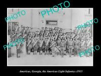 OLD 8x6 HISTORIC PHOTO AMERICUS GEORGIA THE WWI LIGHT INFANTRY GROUP c1915