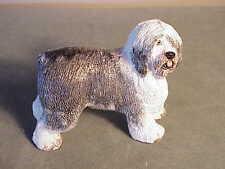 Vintage Original Basil Matthews English Sculpture - Old English Sheepdog Signed