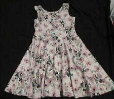 CHILDREN'S PLACE Lrg 10 12 sleeveless floral pink fit and flare stretch dress