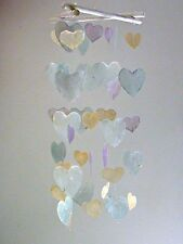Capiz Shell Windchime Heart Mobile Wind Chime Bali Beach Home Decor Decoration