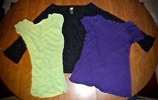 LOT MISSES M - 3 KNIT TOPS - OLD NAVY PERFECT FIT, DEREK HEART & GAP
