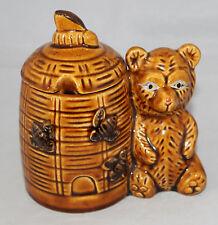 Vintage Ceramic Beehive & Bear Honeypot No Chips or Cracks