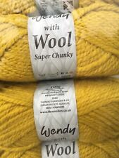 WENDY WITH WOOL SUPER CHUNKY NEW RANGE 500 GRAMS 5 BALLS 20% WOOL Turmeric
