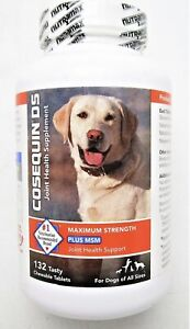 Cosequin DS Max Strength MSM - Dogs All Sizes (132 Chewable Tablet) EXP 2/2023