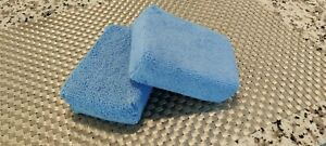 2x Microfiber Wax Sealant Chemical Rectangle Applicator Pad Sponge Car Polish