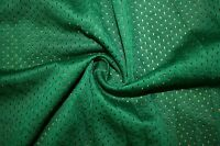 Green Athletic Sports Mesh Knit Polyester Football Jersey Fabric BTY