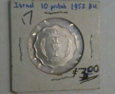 1952 ISRAEL Cat.#KM-17 10 PRUTAH Aluminum Coin , Choice B.U. Uncirculated Coin!