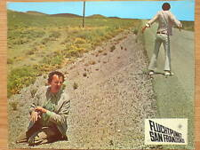 VANISHING POINT Dodge Challenger - rare 1971 lobby card  #10 gay hitchhikers