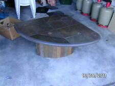 Tisch Wohnzimmertisch Buntschieferplatte Mit Messing Und Mnzeinlage
