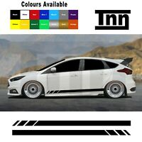 Side Stickers Decals Vinyl Stripes For Ford Focus Fiesta ST RS Mk3 MK2