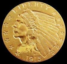 1915 P GOLD US $2.5 DOLLAR INDIAN HEAD QUARTER EAGLE COIN PHILADELPHIA MINT