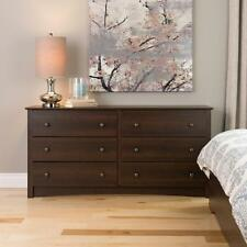 Fremont 6 Drawer Dresser Espresso Bedroom Furniture NEW
