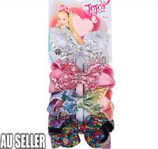 4pcs Sequin Jojo Siwa Bows Girls Fashion Hair Accessories Party Gift