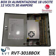 BOX CASSETTA DI ALIMENTATORE STABILIZZATO 18 USCITE CANALI TELECAMERA CCTV 12V