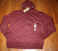 NWT Mens Levi's Maroon Sherpa Hoodie Zip Up Sweater Jacket Coat Large