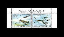 AITUTAKI - 1994 - WW II - BATTLE OF BRITAIN - MIDWAY - AIRCRAFT - MINT NH PAIR!