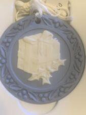"Wedgwood Jasperware Blue Christmas Ornament ""Present"" 2000 W/ Box"