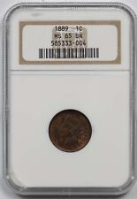 1889 1C NGC MS 65 BN Indian Head Penny