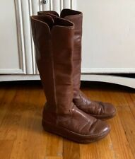 Fitflop Womens Tall Brown Leather Fitness Sole Pull On Boot Size 8